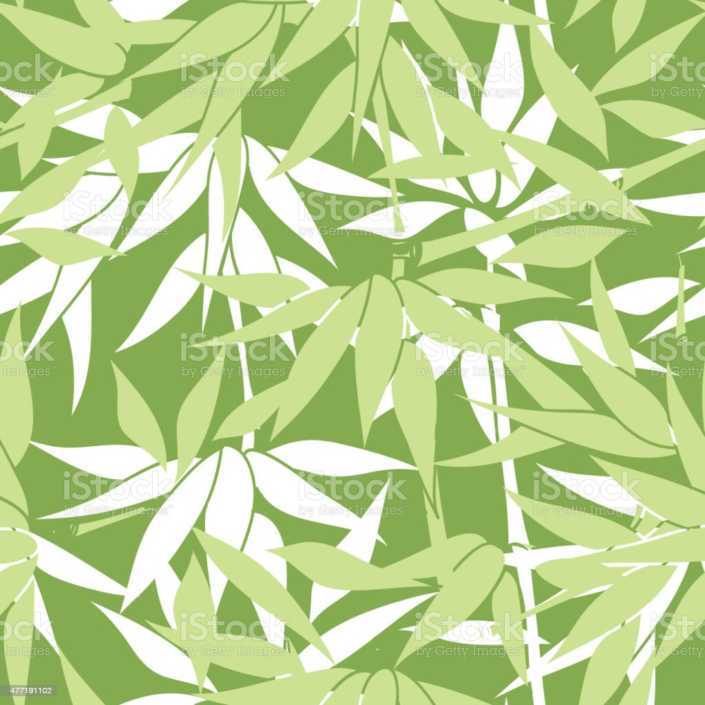 Floral seamless background. Bamboo leaf pattern. vector art illustration