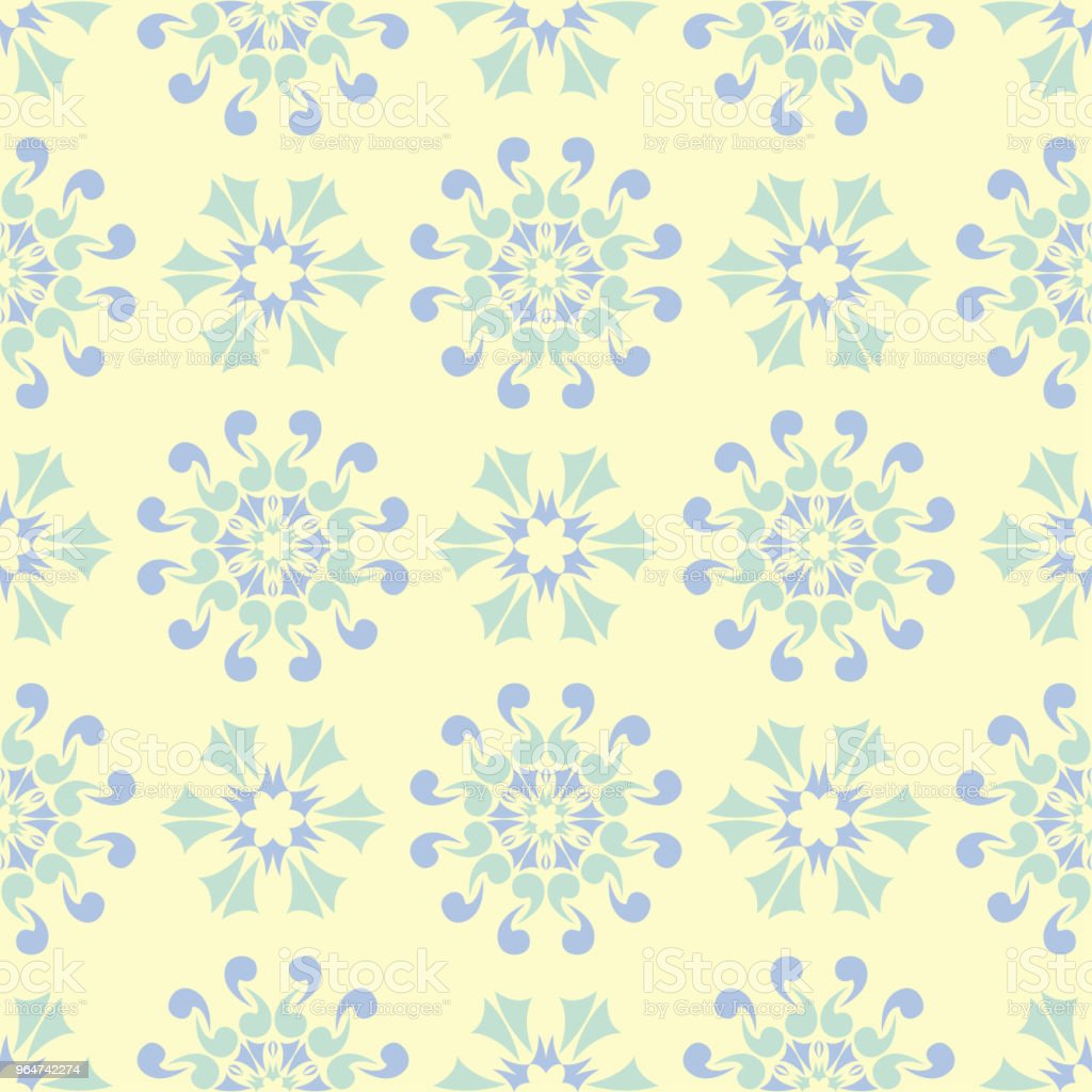 Floral seamless background. Blue and green flower pattern on beige backdrop royalty-free floral seamless background blue and green flower pattern on beige backdrop stock vector art & more images of abstract