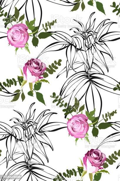 Floral seamless background pattern watercolor pink garden roses in vector id1005429398?b=1&k=6&m=1005429398&s=612x612&h=ls t1hd4tn9y7bilrkpswyr1ku0zkmgqycuue ty a4=