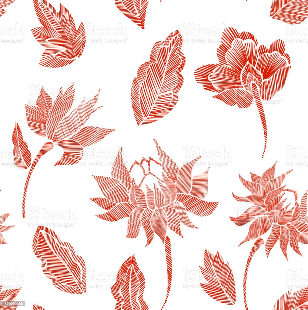 Ilustración de Patrón De Fondo Transparente Floral Con Fantasía ...