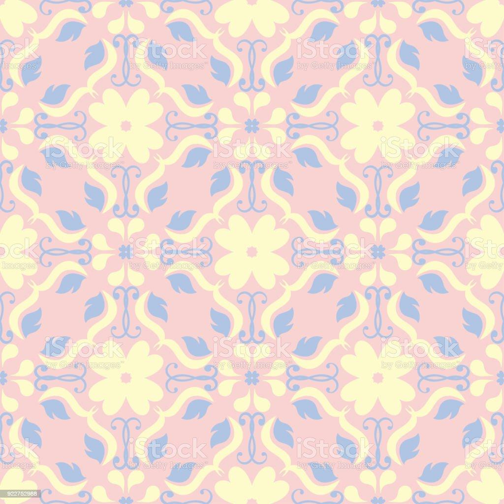 floral nahtlose hintergrund rosa blau und gelb blumenmuster stock vektor art und mehr bilder von. Black Bedroom Furniture Sets. Home Design Ideas