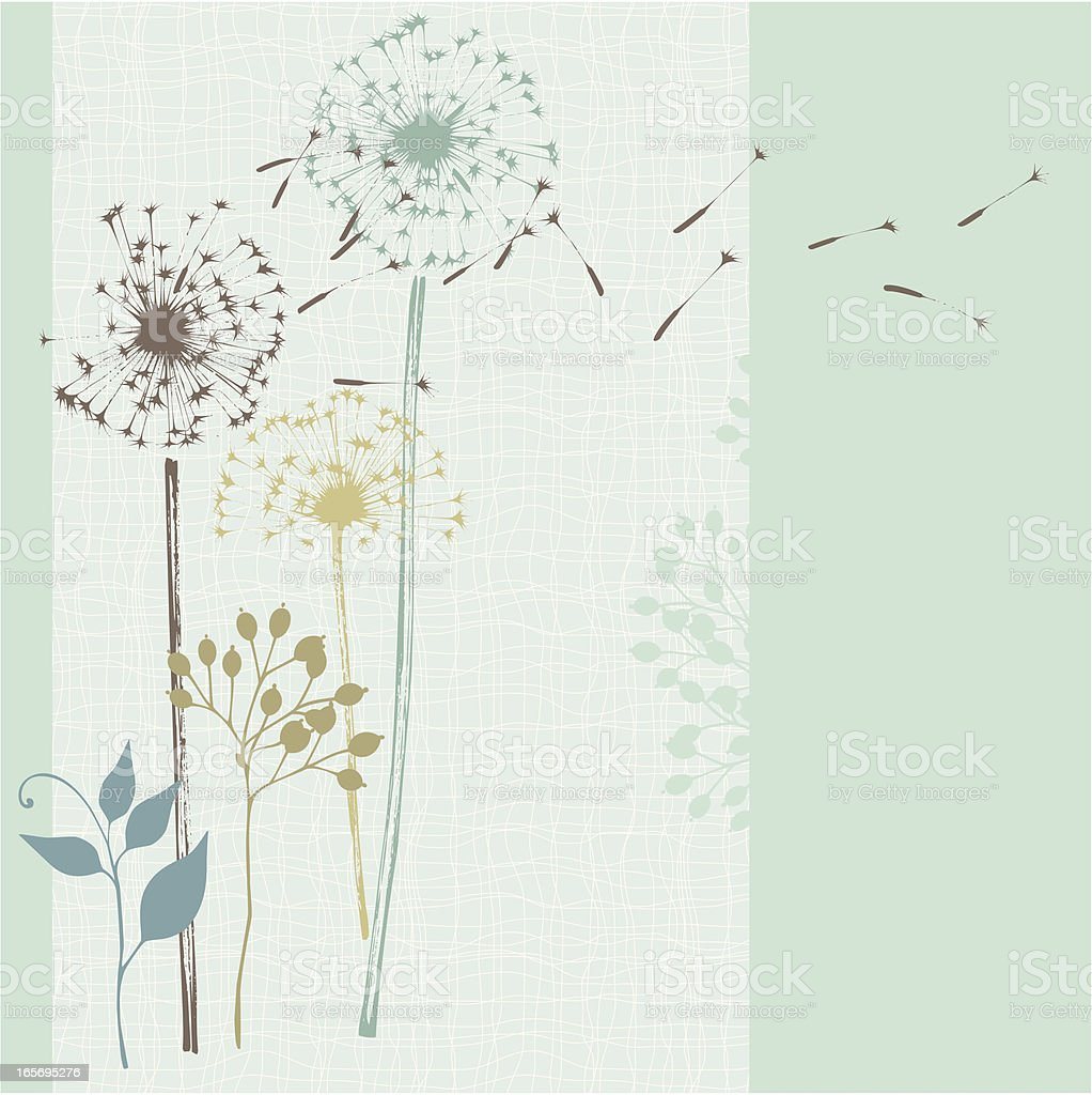 Floral Seamless Card Blue royalty-free stock vector art