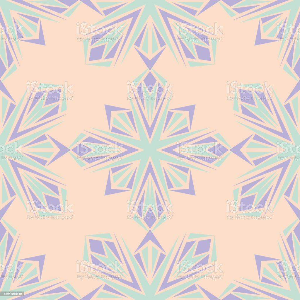 Nahtlose Blumenmuster. Beige Hintergrund mit violetten und blauen Blumen-Elemente - Lizenzfrei Abstrakt Vektorgrafik