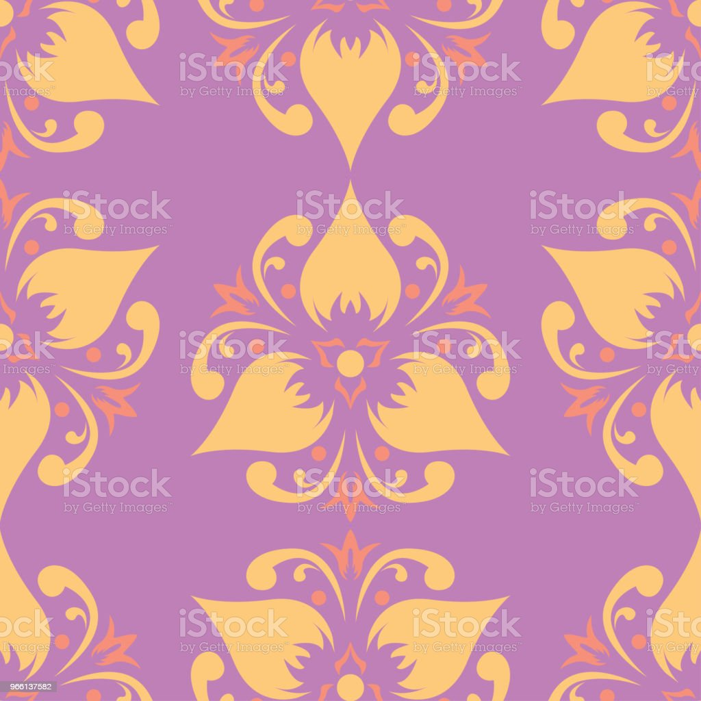 Floral seamless pattern. Colored background - Векторная графика Абстрактный роялти-фри