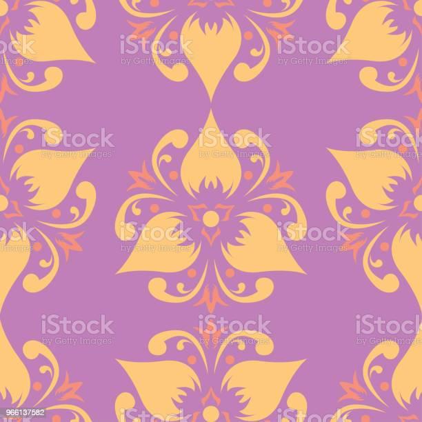 Sömlös Blommönster Färgad Bakgrund-vektorgrafik och fler bilder på Abstrakt