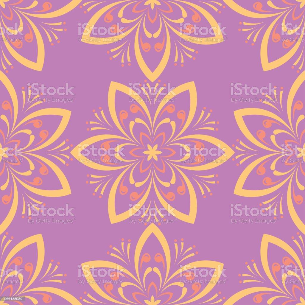 Patrón transparente floral. Colores de fondo - arte vectorial de Abstracto libre de derechos