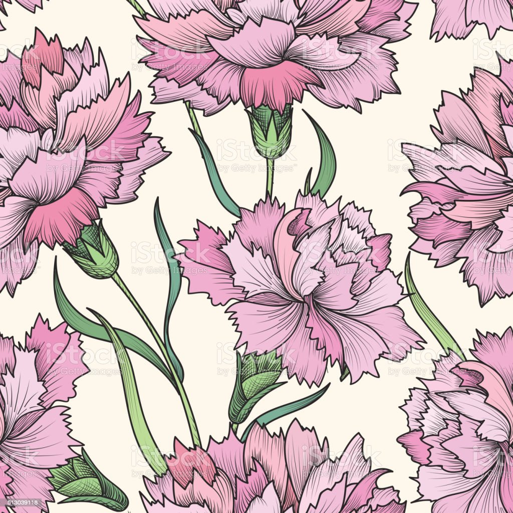 Floral Seamless Pattern Flower Background Floral Seamless