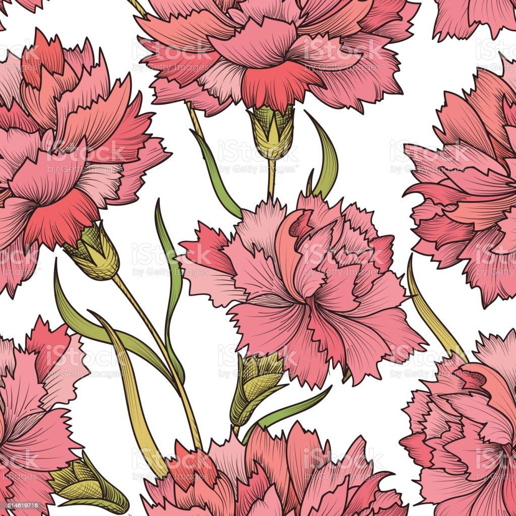 Motivo Floreale Senza Bordature Fiore Sfondo Floreale Seamless
