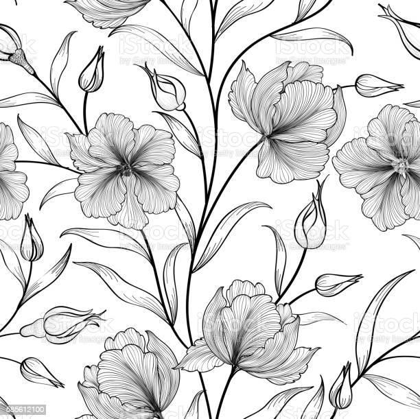 Floral seamless pattern flower background flourish garden sketch vector id585612100?b=1&k=6&m=585612100&s=612x612&h=opmjzcm8e1ibleowjgpm2mk8fyxtnalivdiee08vxsa=