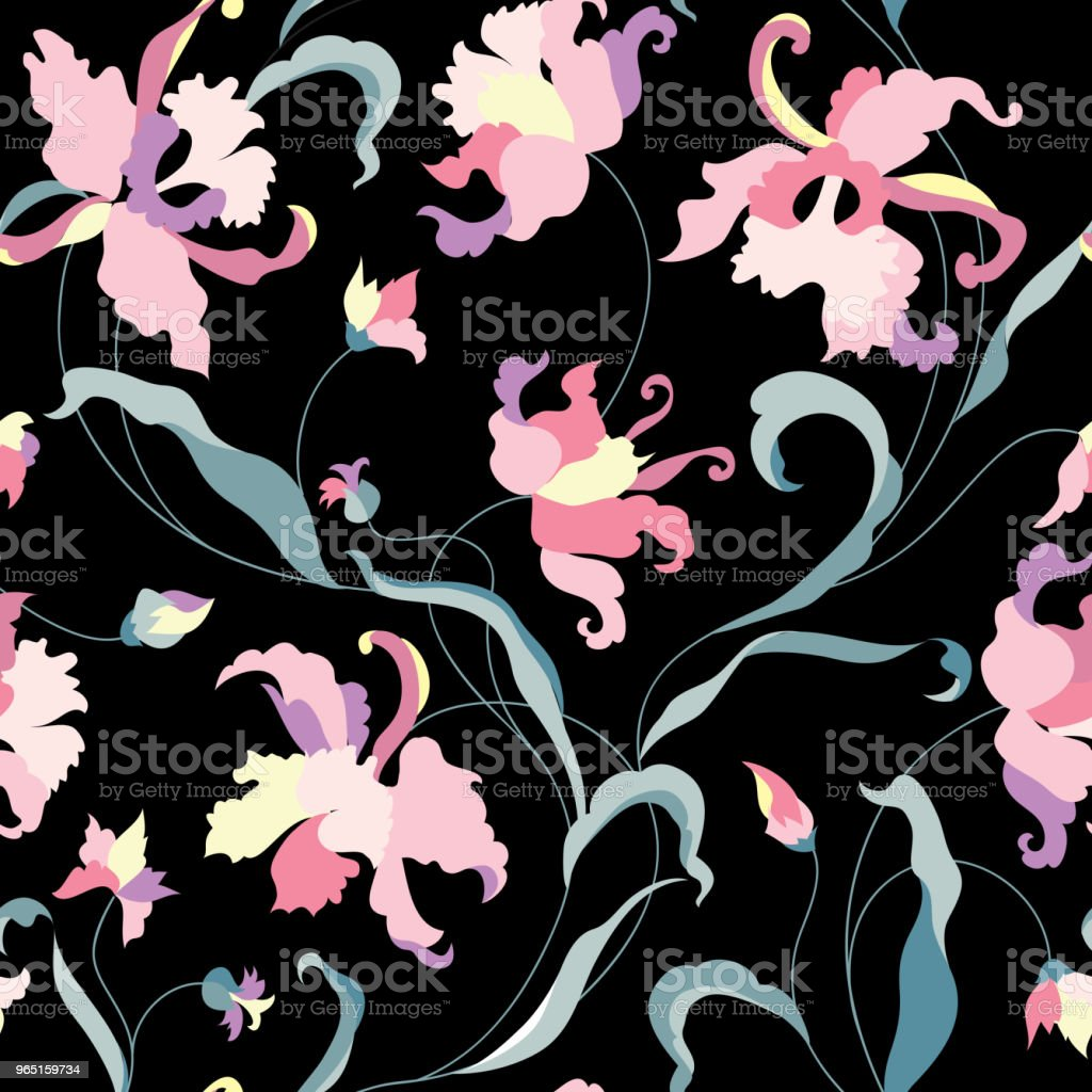 Floral seamless pattern. Flower background. Flourish garden texture with flowers. royalty-free floral seamless pattern flower background flourish garden texture with flowers stock illustration - download image now