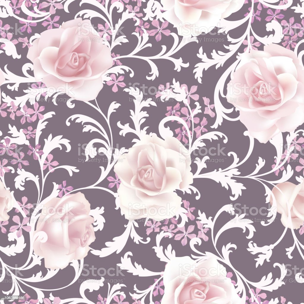Floral Seamless Pattern Flower Background Flourish Nature Garden