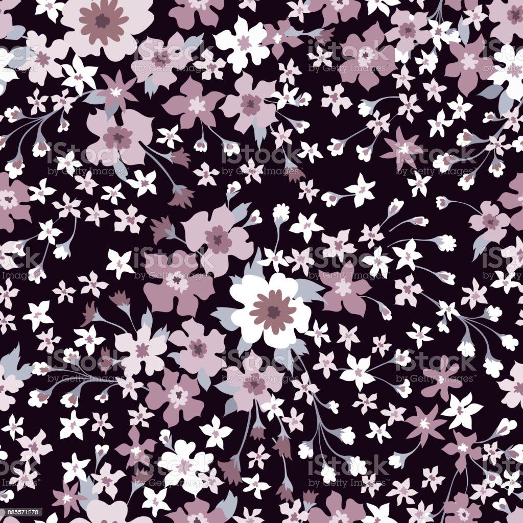 Floral Seamless Pattern Flower Background Flourish Wallpaper