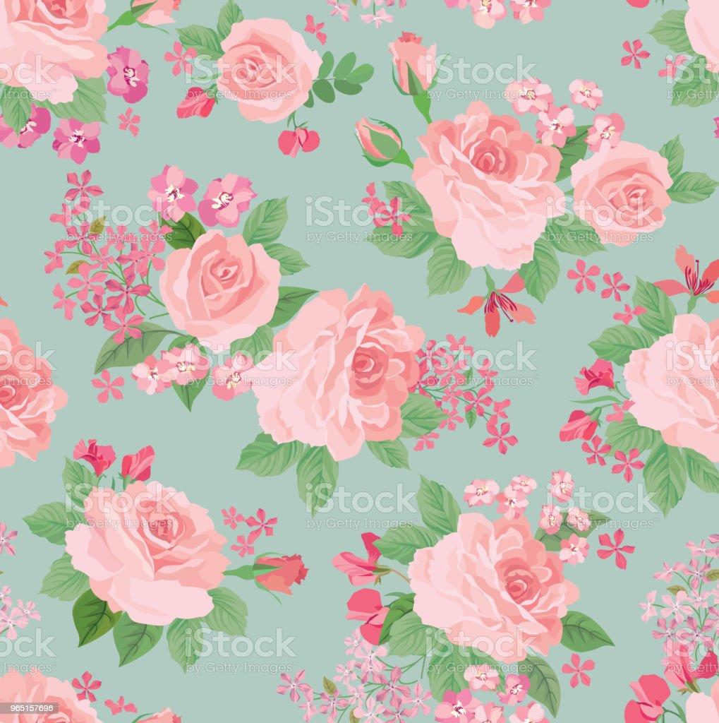 Floral seamless pattern. Flower background. Garden texture floral seamless pattern flower background garden texture - stockowe grafiki wektorowe i więcej obrazów akwarela royalty-free