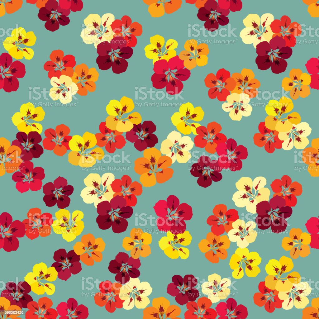 Floral seamless pattern. Flower background. royalty-free floral seamless pattern flower background stock illustration - download image now