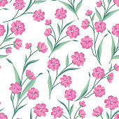 Floral seamless pattern. Flower background
