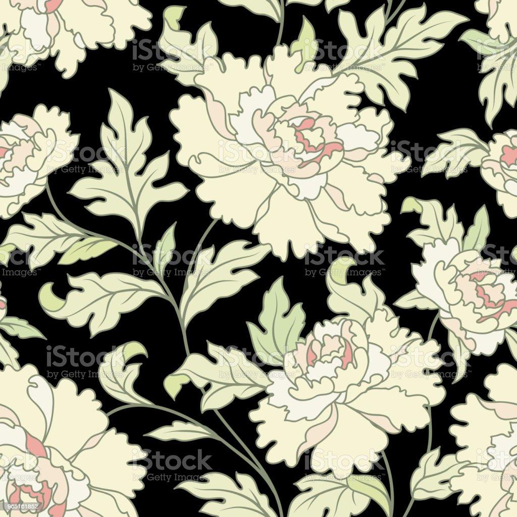 Floral seamless pattern.  Flowers and leaves garden background floral seamless pattern flowers and leaves garden background - stockowe grafiki wektorowe i więcej obrazów abstrakcja royalty-free
