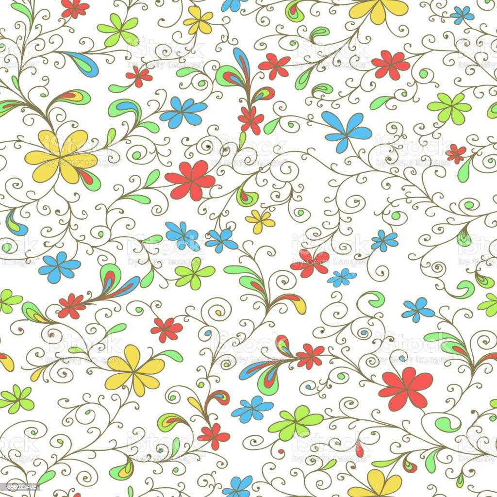 シームレスな花柄の壁紙背景捺染 アイデアのベクターアート素材や画像を多数ご用意 Istock