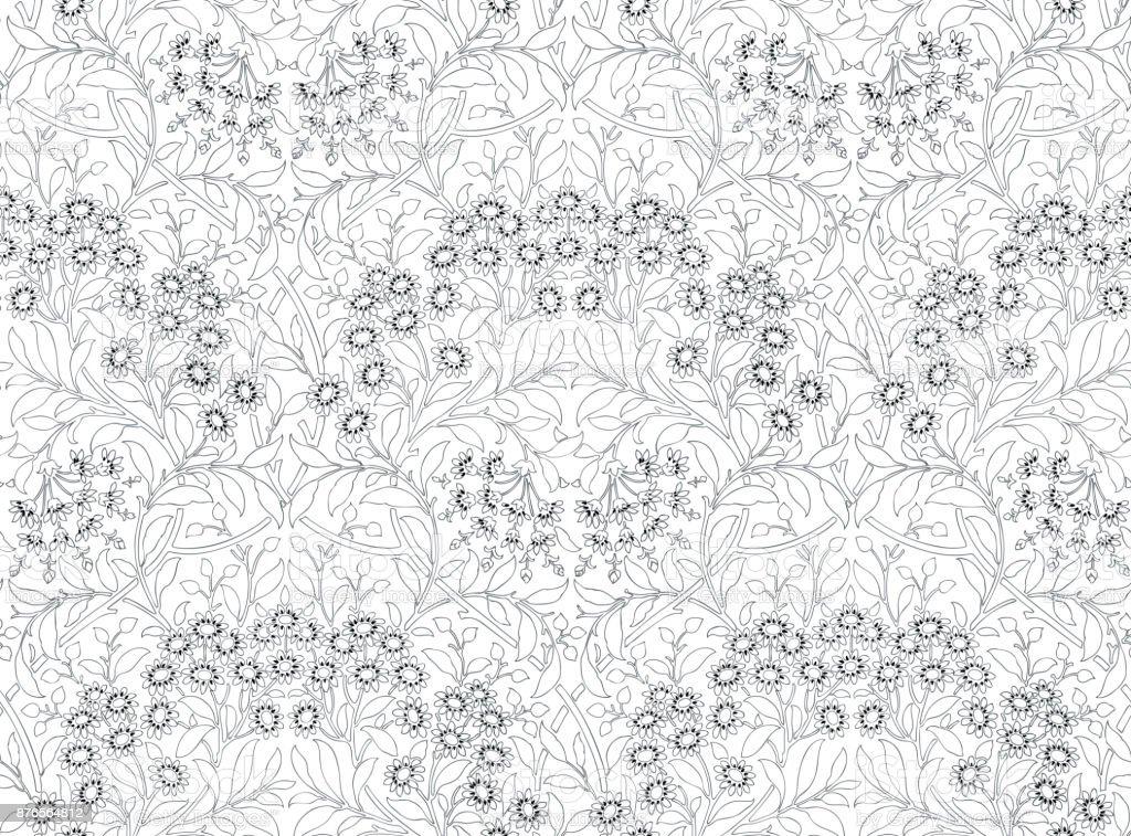 Ilustración de Patrón Transparente Floral Para Su Diseño Patrón ...