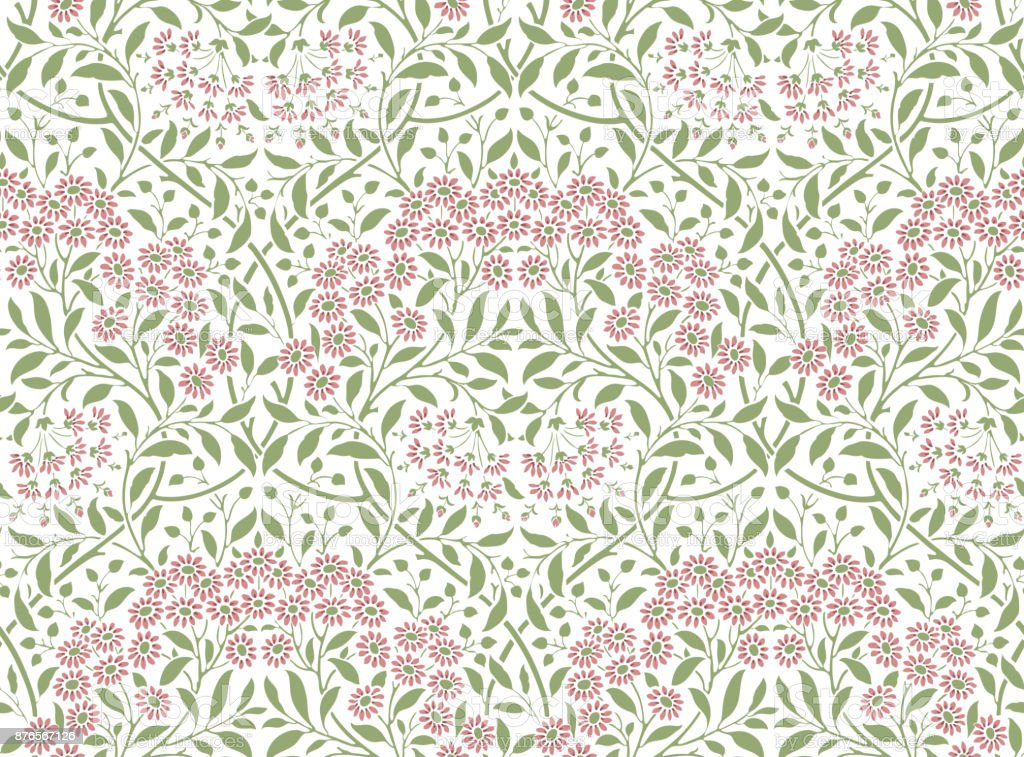 Floral seamless pattern for your design vector art illustration