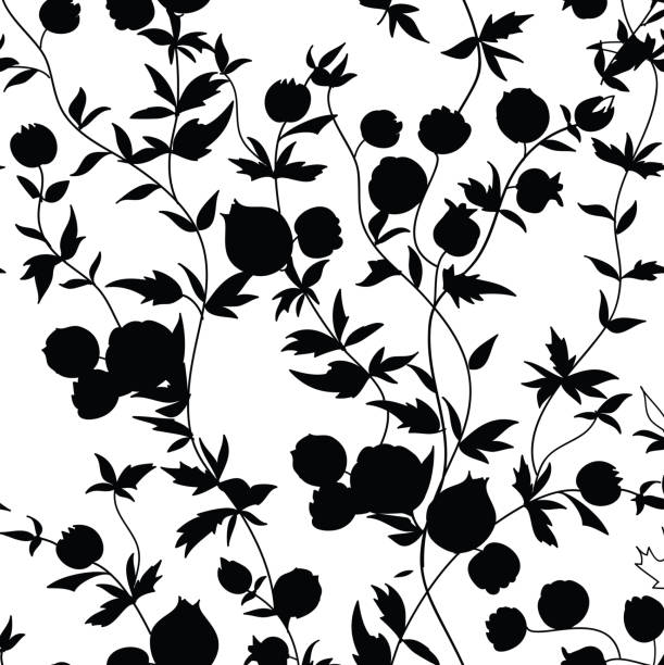 Black Flower Silhouette Pattern Royalty Free Stock Images: Royalty Free Black And White Rose Silhouette Clip Art