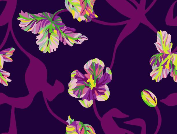 ilustrações de stock, clip art, desenhos animados e ícones de floral seamless pattern. graphic. - natureza close up