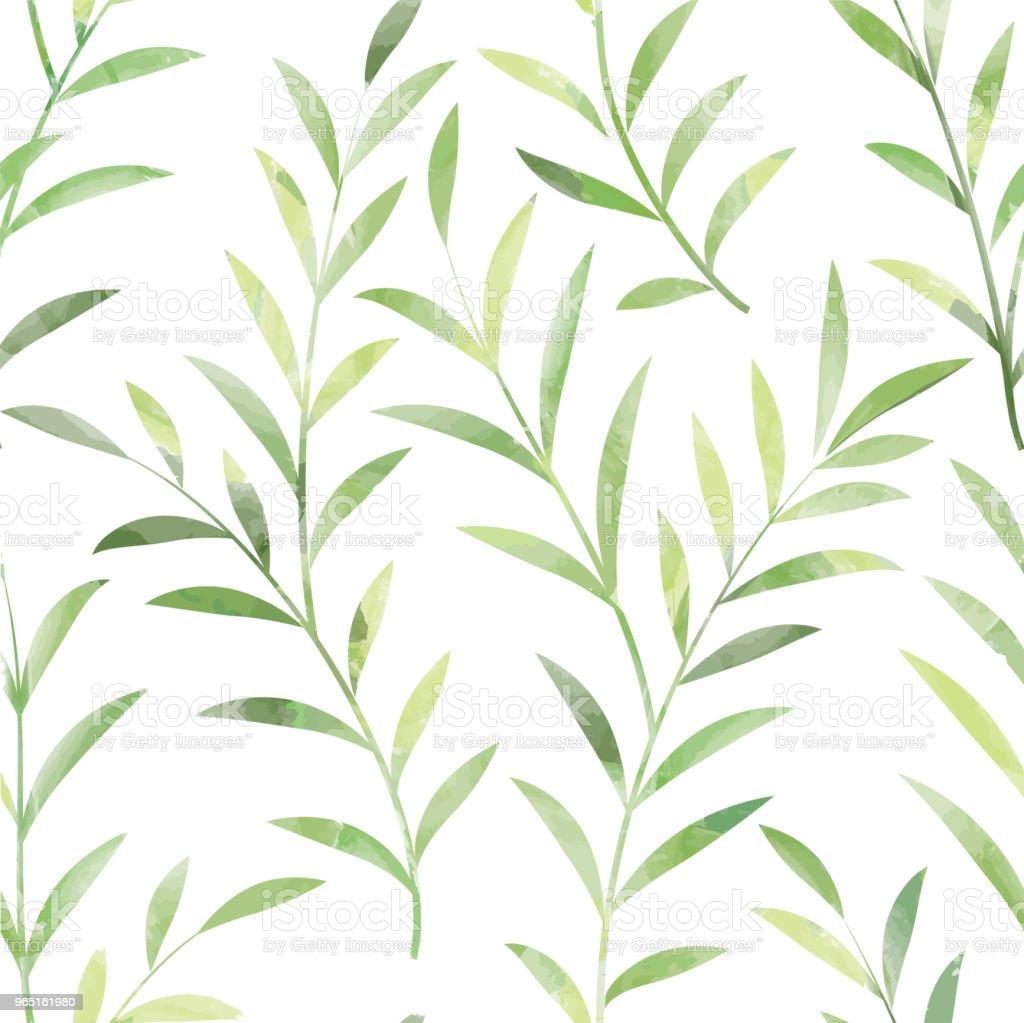 Floral seamless pattern. Leaves background. Nature ornament floral seamless pattern leaves background nature ornament - stockowe grafiki wektorowe i więcej obrazów abstrakcja royalty-free