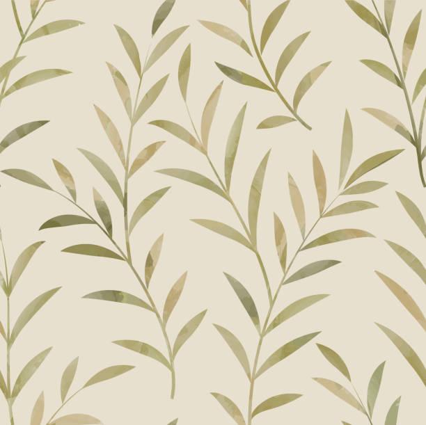 floral seamless pattern. leaves background. nature plant branch ornament - 葉狀花紋 幅插畫檔、美工圖案、卡通及圖標