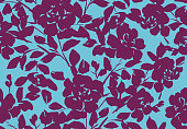 istock Floral seamless pattern made of watercolor roses. 1219674122