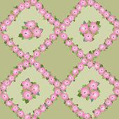 Floral seamless pattern of petunia - Illustration