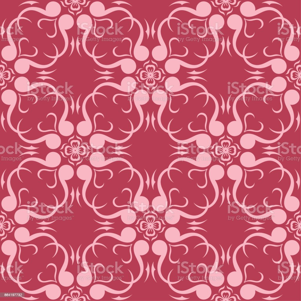 Floral seamless pattern on red background royalty-free floral seamless pattern on red background stock vector art & more images of abstract