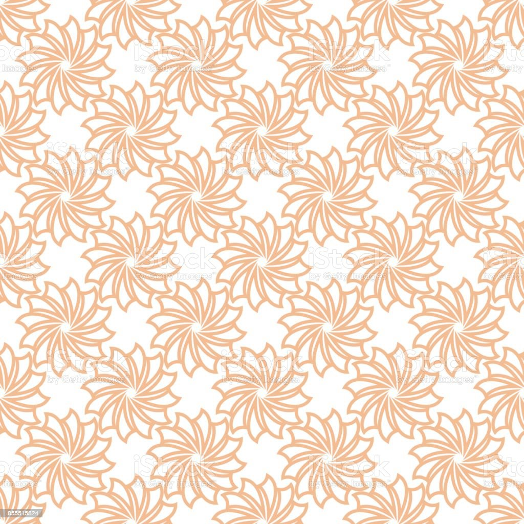 花のシームレスなパターンオレンジ色の壁紙の背景