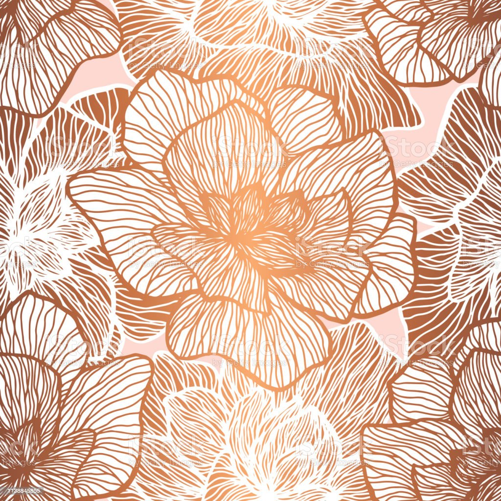 Floral Seamless Pattern Plant Texture For Fabric Wrapping