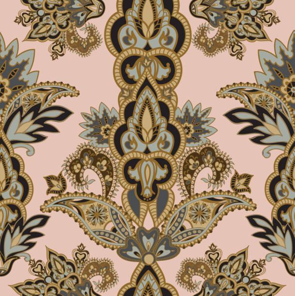 floral seamless pattern stylish retro flower ornament - アジアのタトゥー点のイラスト素材/クリップアート素材/マンガ素材/アイコン素材