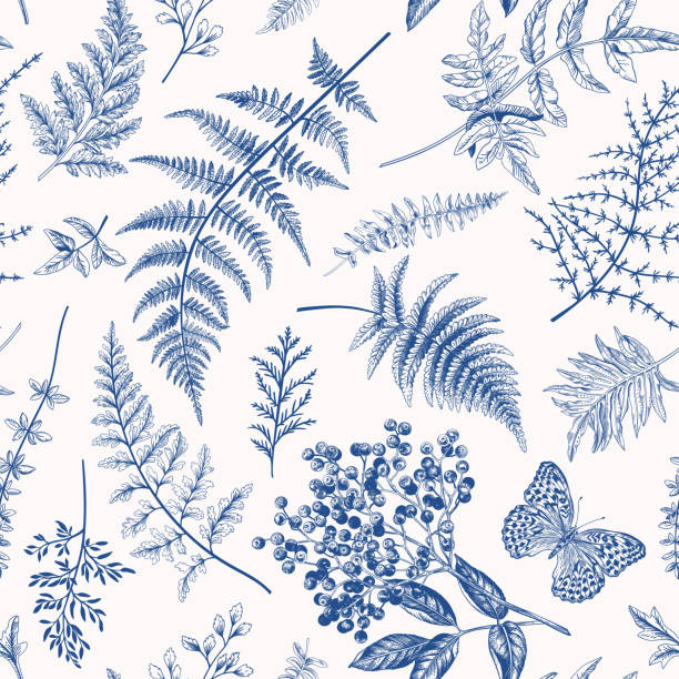 Floral seamless pattern. vector art illustration
