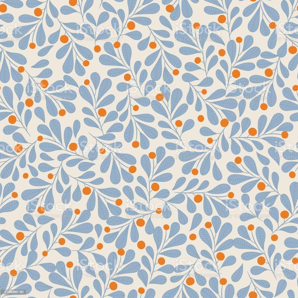 Floral seamless pattern . - Векторная графика Абстрактный роялти-фри