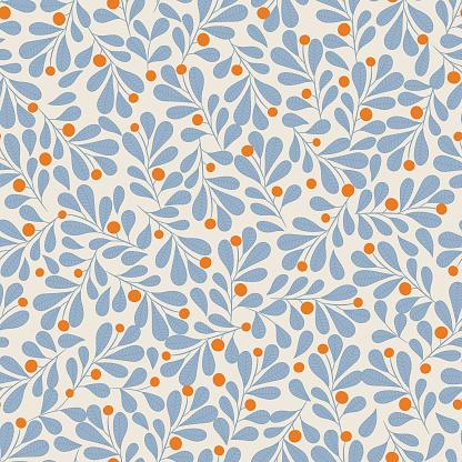 Floral Seamless Pattern — стоковая векторная графика и другие изображения на тему Абстрактный