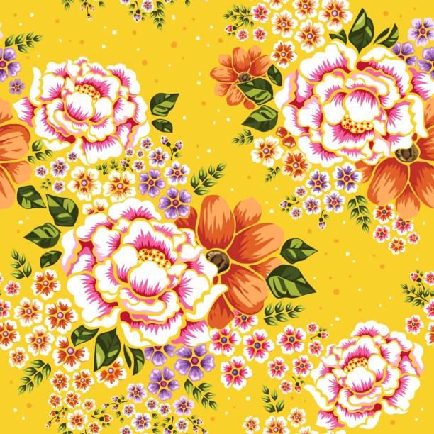 花のシームレスなパターン  - 台湾点のイラスト素材/クリップアート素材/マンガ素材/アイコン素材