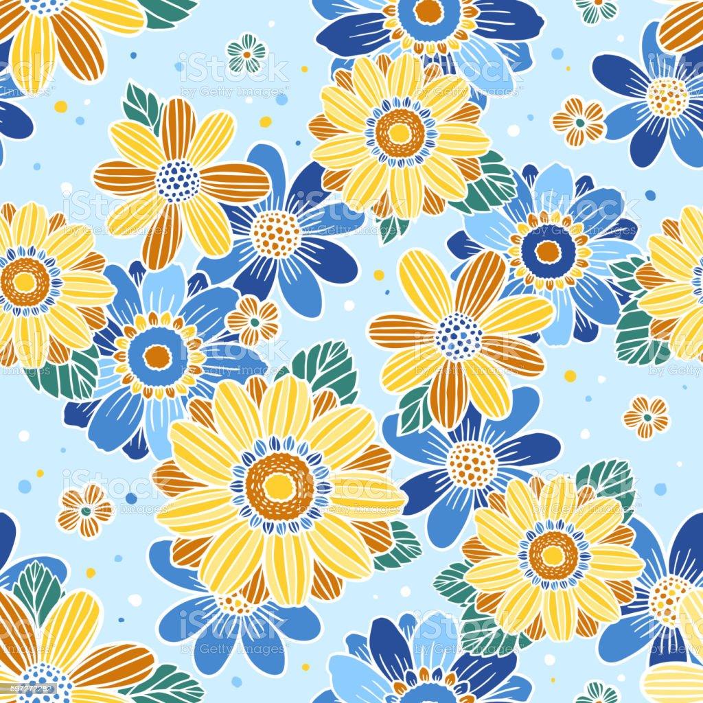 Floral Nahtlose Muster  Lizenzfreies floral nahtlose muster stock vektor art und mehr bilder von abstrakt
