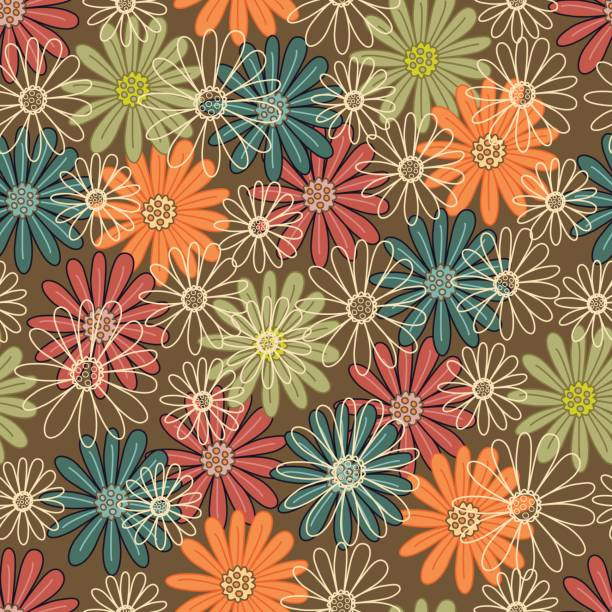 Floral seamless pattern . vector art illustration