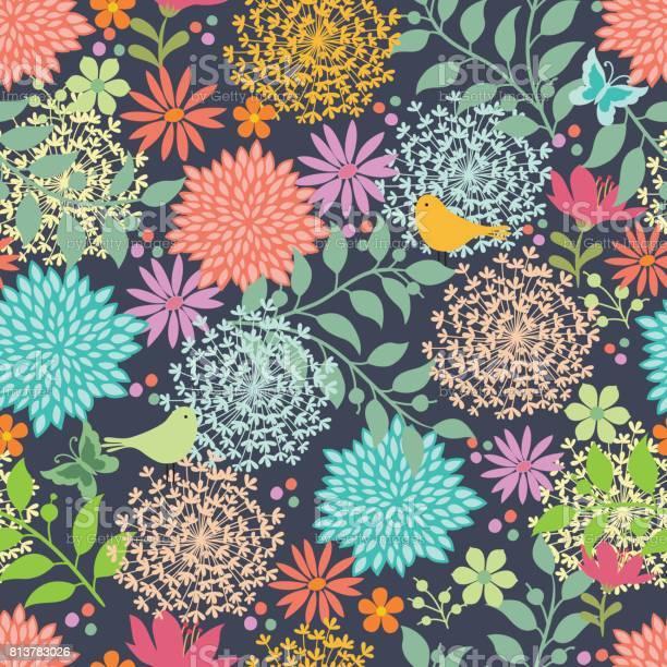 Floral seamless pattern vector id813783026?b=1&k=6&m=813783026&s=612x612&h=1mkil5qttm8syz35kqcyliqnjscl3kjrhdef kstj3g=