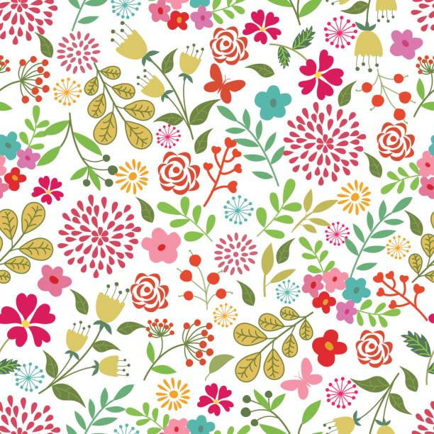 Floral seamless pattern . Vector floral seamless pattern . backgrounds clipart stock illustrations