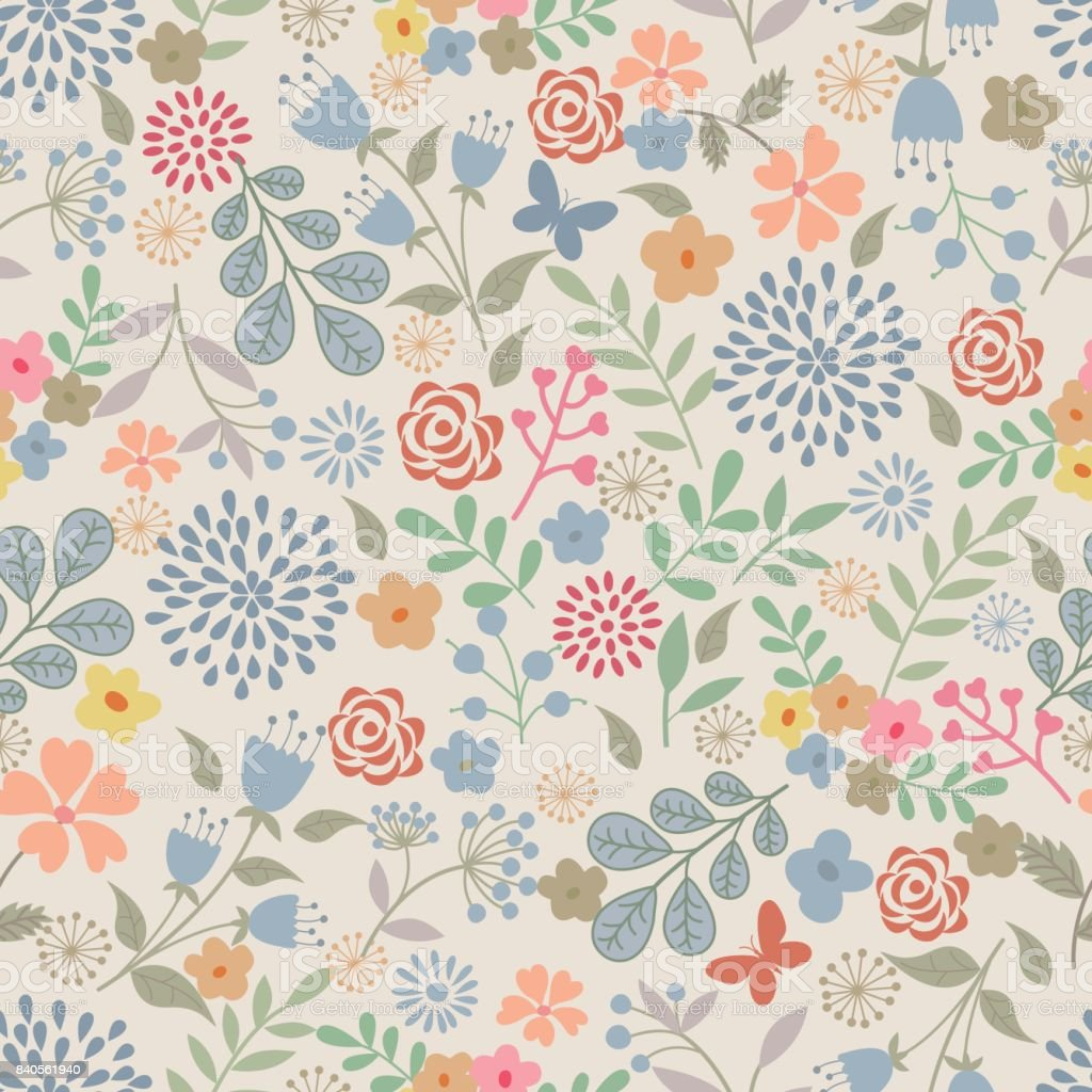 Motif Floral. - Illustration vectorielle