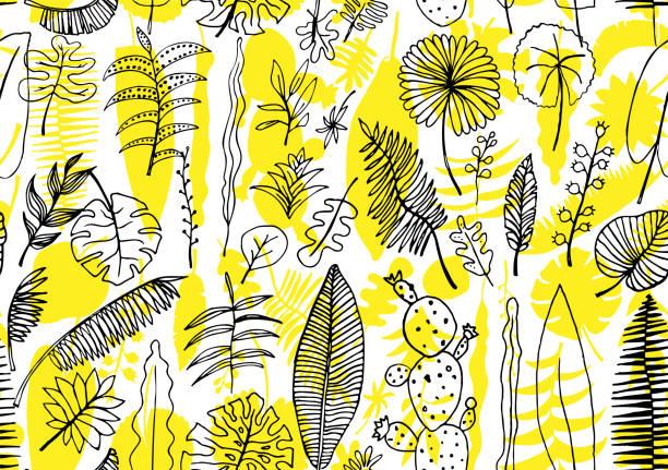nahtlose blumenmuster. vector art hellen hintergrund - blütenstand stock-grafiken, -clipart, -cartoons und -symbole
