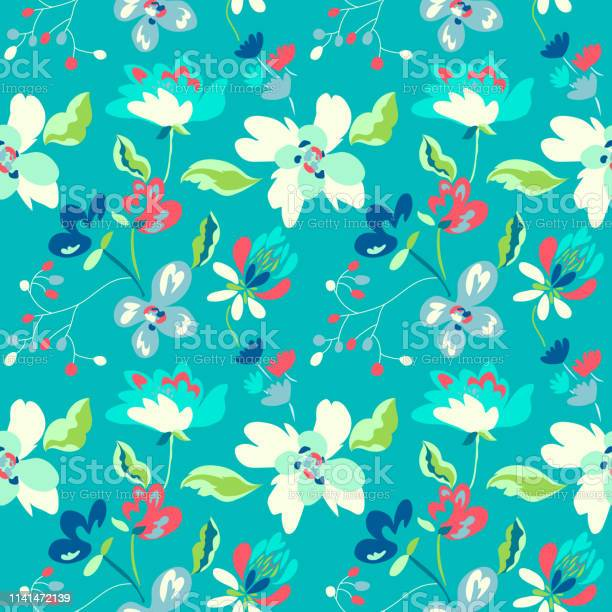 Floral seamless pattern with abstract flowers and leaves painted vector id1141472139?b=1&k=6&m=1141472139&s=612x612&h=alfp64dt ssshlvnelqk0vgkr4chwguzzr  sf3sie0=
