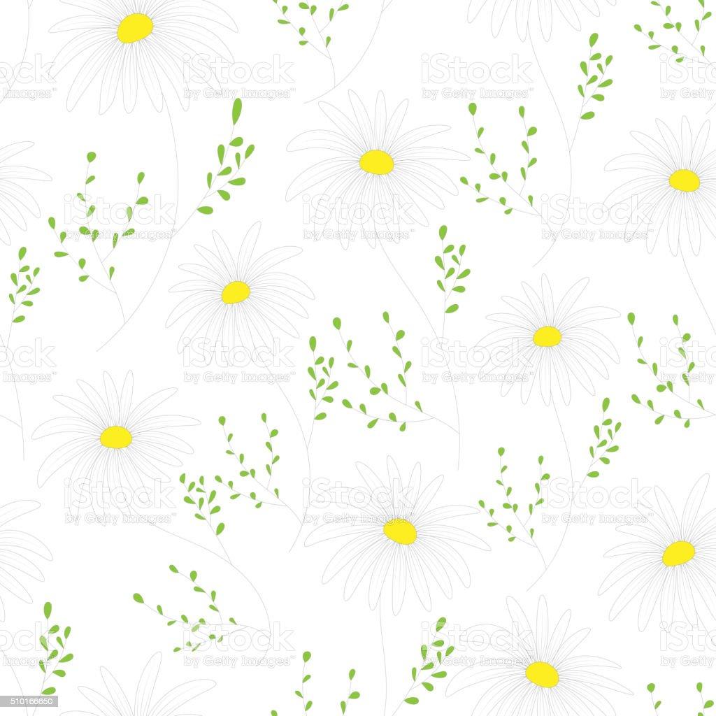 Vetores De Floral Padrao Perfeito Com Flores Delicadas Desenho A