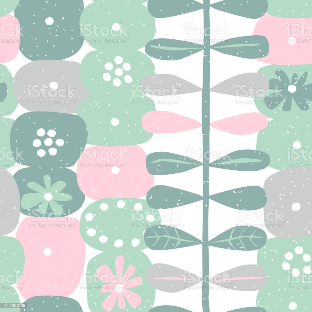 Abstract background with flower, vector illustration for print,...