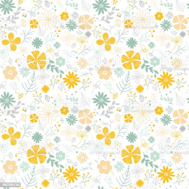 Floral seamless pattern with hand drawn wild flowers branches on vector id862385284?b=1&k=6&m=862385284&s=612x612&h=abjbj6v3dbliqakgghwtgmlyzykqqiqbwmikmwvgcag=