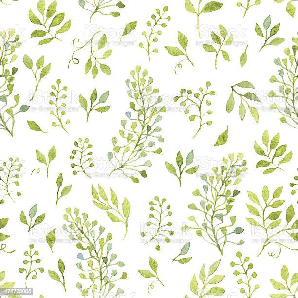 Floral seamless pattern with spring branches and leaves vector id478773005?b=1&k=6&m=478773005&s=612x612&h=frn4 rr2c82bkff6nf9eos5 bf9poecrcqbawozhwxe=