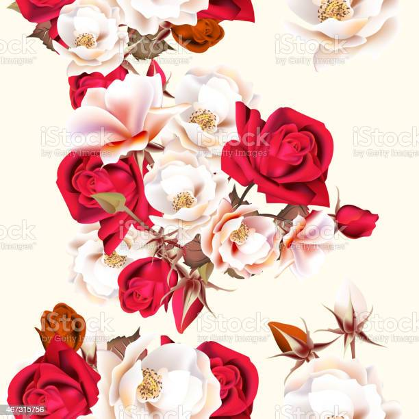 Floral seamless pattern with white and red roses vector id467315756?b=1&k=6&m=467315756&s=612x612&h=cvvxlm02 kxvcb vo4x cgt1g8o79 mjix4bk6p7ee8=