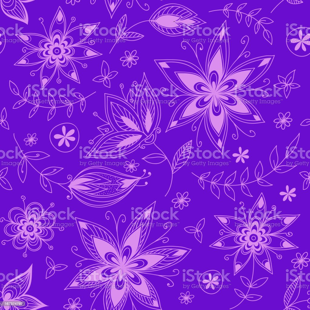 Floral seamless pattern_2 royalty-free stock vector art